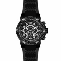 Invicta 24236 Men's Black Dial Chrono Steel & Silicone Strap Watch