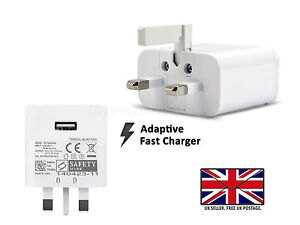 For ONEPLUS 8 7 6 5T 5 3T 3 2 - UK Wall Charger / USB Type C3.1 Data Sync Cable