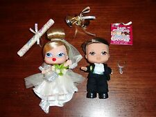 Bratz Babyz Bride & Groom Doll Diamond Ring Cake Topper Wedding New Open Package