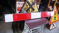 Objet Métier Vintage Panneau Routier Fin de Chantier Plaque Tôle émaillée 1960