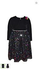 New Baby Girl Blueberi Boulevard Sequin Velvet Dress & Shrug 2-Piece Set Sz. 24M