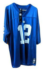 NWT New York Giants Steve Smith Jersey #12 NFL Reebok Players  NWT Men's 2XL