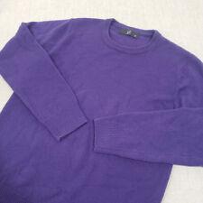 ERMENEGILDO Z ZEGNA Purple Wool Crew Neck Sweater M