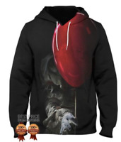 Clown NEW 3D Print Pennywise Horror Hoodie Stephen King It 2017 Pullover S - 6XL