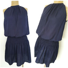 DO + BE Mini Dress Size Medium Blue Sleeveless Ruched Waist