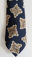 """Vintage Hugo Boss Tie Italy Men's Navy Floral 100% Italian Silk 58"""""""