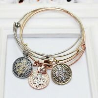 Women Ladies Jewelry Love Heart Starfish Classical Pendant Bracelet Bangle