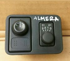 NISSAN ALMERA 1.5 5DR HEADLIGHT HEIGHT LEVEL ADJUSTER & WING MIRROR SWITCH 2005