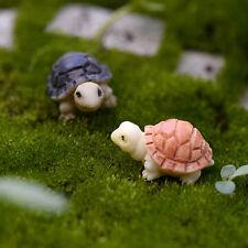 2pcs Miniature Dollhouse Bonsai Fairy Garden Landscape DIY Tortoise Decor GT