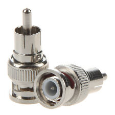 2 Pcs BNC Male to RCA Male RF Coaxial Connector Adapter for CCTV N3