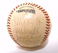 Willie McCovey Jack Clark Darrell Evans 1980 SF Giants Signed Autograph Baseball