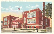 c.1920 High School Lynbrook LI NY post card