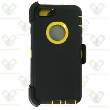For Apple iPhone 6 Plus/ 6S Plus Case (Clip fits Otterbox Defender) Black Yellow