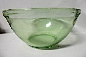 VINTAGE GREEN GLASS COOKING MIXING BOWL KITCHENALIA