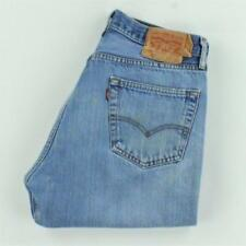 Levi's 501 Jeans Men Straight Leg Button Fly Ripped Distressed Size 36x34