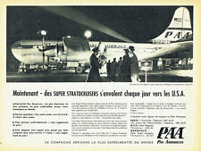 Publicité Advertising 107  1955   Pan American  compagnie aérienne  super strato