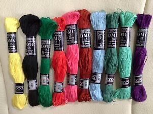10  DMC Cotton A Broder Embroidery threads bundle cross stitchMixed