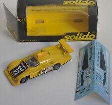 Alpine Renault A 442 Le Mans 1978 Solido 1/43e Réf : N° 87