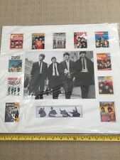 The Beatles Photo Display With Concert Posters Professionally Mounted