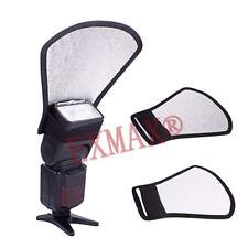 2PCS Camera Flash Diffuser Softbox Silver White Reflector Speedlite For Camera