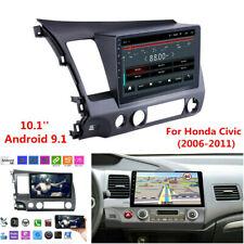 10.1'' Android 9.1 WIFI Car Stereo Radio GPS Head Unit For Honda Civic 2006-2011
