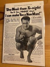 1933 Vintage Original Print Charles Atlas Body Building I Can Make You A New Man