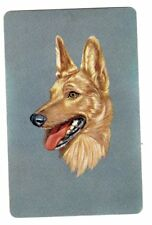 Vintage Blank Back Swap/Playing Card(German Shepherd)