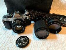 Canon Ae-1 Program 35mm Film Camera w/ 3 lens & accessories Excellent Condition