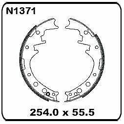 For Toyota Hilux/4 Runner RN20 RN25 RN27 1972-1978 REAR Drum Brake Shoe Set