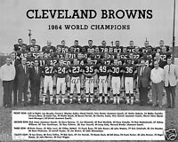 1964 CLEVELAND BROWNS NFL CHAMPIONS TEAM 8X10 PHOTO RYAN BROWN KELLY WARFIELD 2
