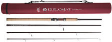 Abu Garcia Diplomat Carbon Travel Spinning Rod 4PC + Carry Case - 8FT,9FT & 10FT