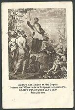 Estampa antigua San Francisco Javier andachtsbild santino holy card santini