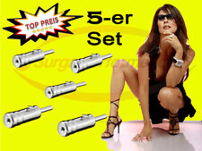 5x ISO > DIN Antenne Adapter Kupplung Stecker Antennenadapter Auto Profi SURGA