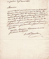 MARECHAL JOURDAN lettre autographe signée (NAPOLEON IER)