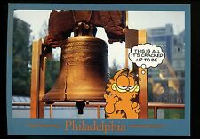 Comics postcard Garfield Cat Jim Davis PHILADELPHIA Liberty Bell