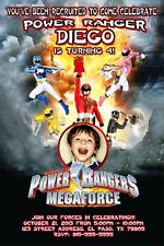 Power Rangers Megaforce - Birthday Party Invitations D1