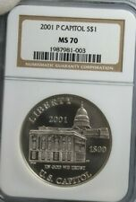 2001 P CAPITOL S$1 NGC MS 70 Silver Coin