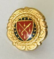 Small Crest Lapel Pin Badge Brooch Vintage (C14)