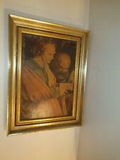 Altes Gemälde in Goldrahmen  Bild Wandbild Malerei Kunst Antik 37x28x4 cm