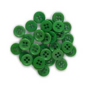 100pcs Dark Green Resin buttons Sewing Scrapbooking Clothing Handmade Decor 10mm