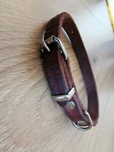 Earthbound Brown Soft Country Leather Dog Collar Small- 24-32cm Neck