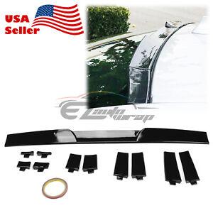 Universal Fit Gloss Black Glossy Top Roof Spoiler Wing Adjustable Splitter Kit