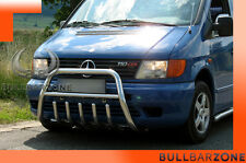 MERCEDES VITO 1996-2003 TUBO PROTEZIONE MEDIUM BULL BAR INOX STAINLESS STEEL!