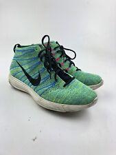 Nike Lunar Flyknit Chukka Green/Blue/Pink Men's Sneakers Sz 12