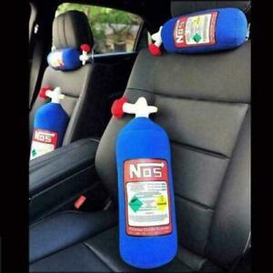 NOS Nitrous Oxide Bottle Tank Shape Car Home Pillow Plush Turbo JDM Toy 28*10cm4