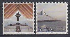 Färöer 1998 ** Mi.345/46 Gebäude Buildings | Kirchen Churches | Frederiks-Church