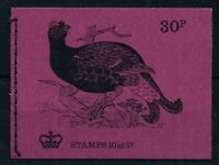 GB 1972 SG DQ66 No 6 Black Grouse 30p Booklet October 1972 INTACT Mint MNH
