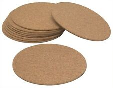 "(10) ea Woodstream Cm8 8"" Round Cork Floor / Pot Protector Mats"