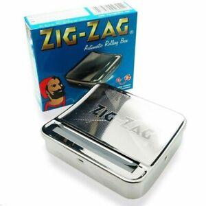 2X Zig Zag TIN Automatic Cigarette Tobaco Rolling Machine Box ZigZag Roller Roll