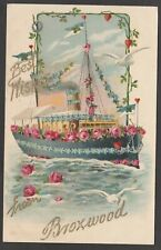 Postcard Broxwood near Kington Herefordshire early Greetings ship Best Wishes